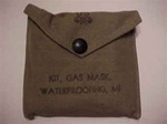 WWII Era M1 Gas Mask Waterproofing Kit