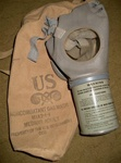 U.S. MIA2-I-I Adult Civil Defense (Noncombatant) Gas Mask and Filter