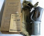 Unissued U.S. MIA2-I-I Adult Noncombatant Gas Mask Complete Set W/ Box and Manual