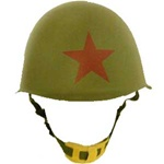 Soviet M52 Steel Helmet with Red Star