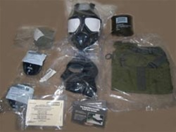 New U.S. M40A1 Field Protective Gas Mask with Accessories