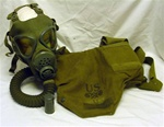 U.S. Army M3A1 Diaphragm Gas Mask Military Respirator