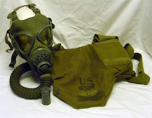 U.S. Army M3A1 Diaphragm Gas Mask WW ll Military 1942 ...