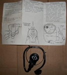 U.S. M17A1 Gas Mask Microphone