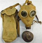 WW ll Japanese IJA Type 1 - Model A Gas Mask